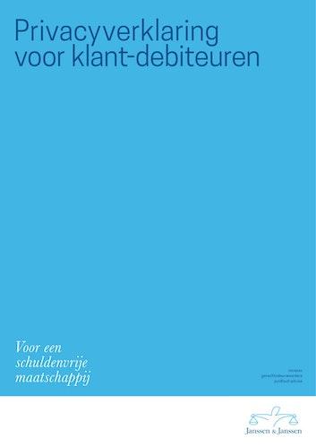 Privacyverklaring Janssen Janssen voor klant debiteuren kaft